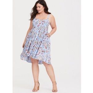 NEW Torrid Floral Sweetheart Dress 1X